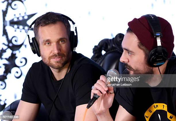 Musicians Will Farquarson and Kyle J Simmons of Bastille attend 1067 KROQ Almost Acoustic Christmas 2015 at The Forum on December 12 2015 in Los...