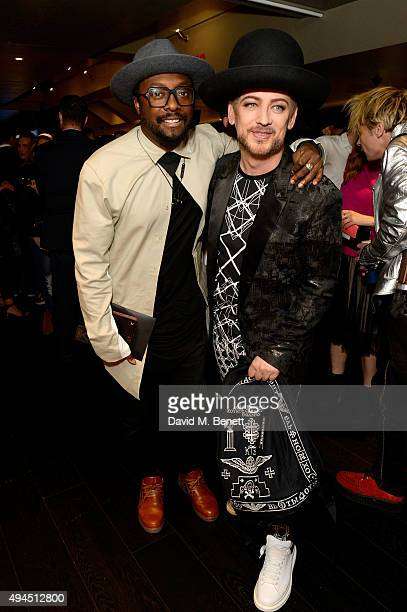 Musicians willIam and Boy George attend the Al Films and Warner Music Screening of Kill Your Friends on October 27 2015 in London England