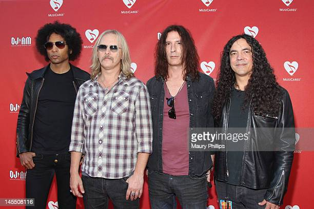 Musicians William DuVall Jerry Cantrell Sean Kinney and Mike Inez of the band Alice in Chains arrive at the 8th Annual MusiCares MAP Fund Benefit at...