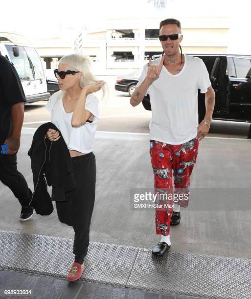 Musicians Yolandi Visser and Ninja of Die Antwoord are seen on June 20 2017 in Los Angeles California