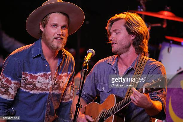 Musicians Zach Chance and Jonathan Clay of Jamestown Revival perform at George Fest at Fonda Theater on September 28, 2014 in Los Angeles, California.