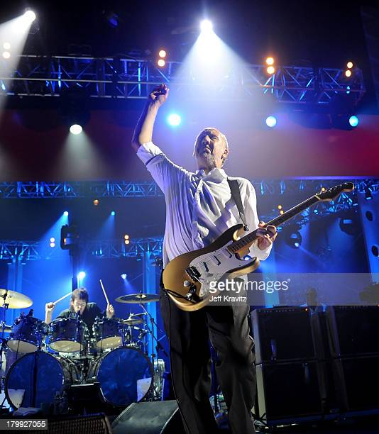 Musicians Zak Starkey and Pete Townshend of The Who perform onstage at the 2008 VH1 Rock Honors honoring The Who at UCLA's Pauley Pavilion on July 12...
