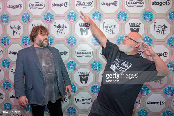 Musicians/actors Jack Black and Kyle Gass of Tenacious D attend the Texas premiere of 'Tenacious D in Post Apocalypto' during Fantastic Fest at the...