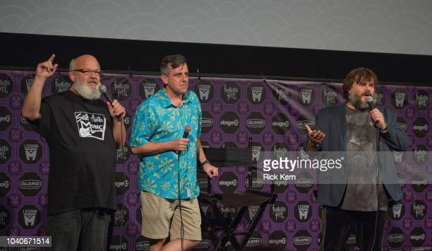 Musicians/actors Kyle Gass and Jack Black of Tenacious D introduce the Texas premiere of 'Tenacious D in Post Apocalypto' during Fantastic Fest at...