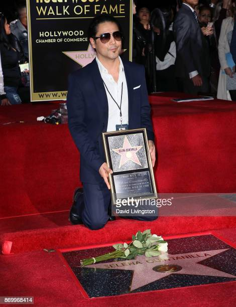 Musician/Selena's widower Chris Perez attends singer Selena Quintanilla being honored posthumously with a Star on the Hollywood Walk of Fame on...