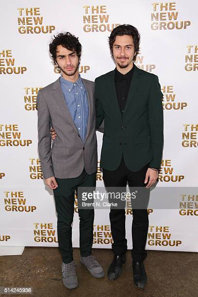 Musicians/event performers Alex Wolff and Nat Wolff attend the 2016 New Group Gala held at Tribeca Rooftop on March 7 2016 in New York City