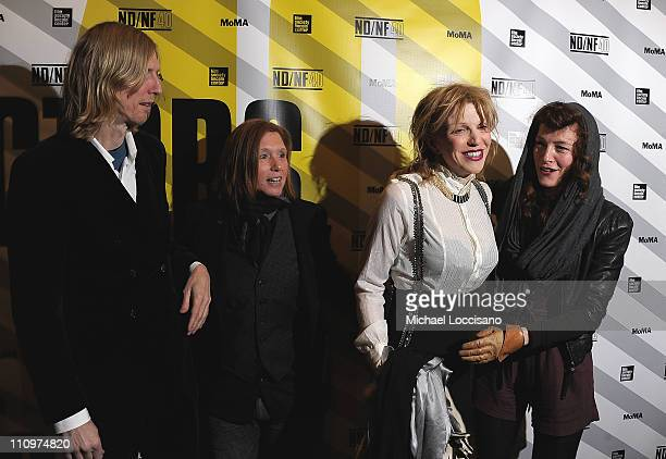 Musicians/film subjects Eric Erlandson Patty Schemel Courtney Love and Melissa auf der Maur attend the 2011 New Directors/New Films screening of Hit...