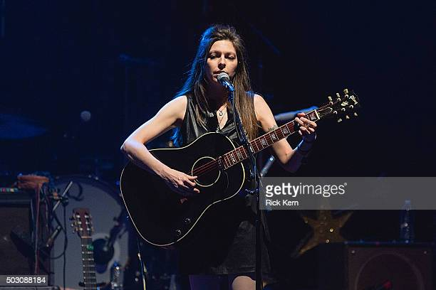 Musician/singer Amy Nelson of Folk Uke performs in concert at ACL Live on December 31 2015 in Austin Texas
