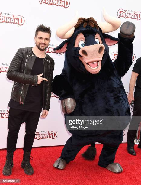 Musician/singer Juanes arrives at a screening of 20th Century Fox's 'Ferdinand' at the Zanuck Theater at 20th Century Fox Lot on December 10 2017 in...