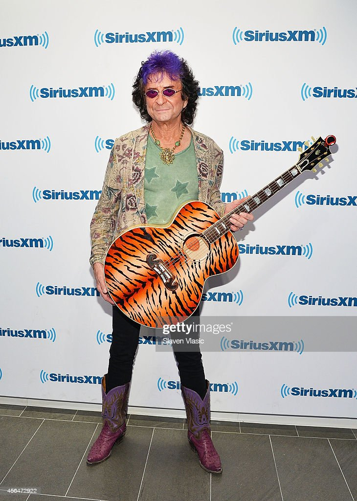 Musician/songwriter Jim Peterik of Survivor visits SiriusXM Studios on October 1, 2014 in New York City.