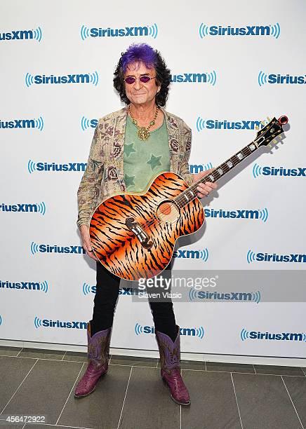 Musician/songwriter Jim Peterik of Survivor visits SiriusXM Studios on October 1, 2014 in New York City.