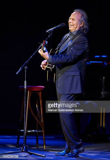 Musician/songwriter Joan Manuel Serrat performs in concert at the Palau de les Arts on September 25 2018 in Valencia Spain