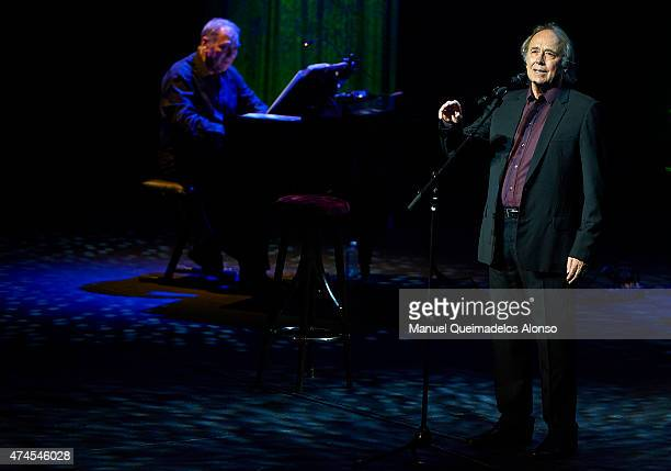 Musician/songwriter Joan Manuel Serrat performs in concert at the Palau de les Arts on May 23 2015 in Valencia Spain
