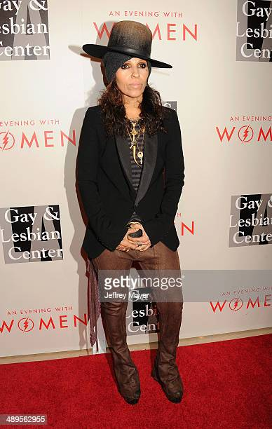 Musician/songwriter/record producer Linda Perry arrives at the 2014 An Evening With Women Benefiting LA Gay Lesbian Center at the Beverly Hilton...