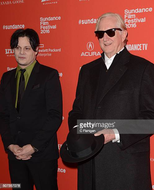 Musicians/Producers Jack White and T Bone Burnett attend the 'American Epic' Premiere during the 2016 Sundance Film Festival at Eccles Center Theatre...