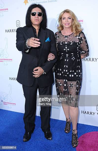 Musician/tv personality Gene Simmons and Shannon Tweed attend the Kaleidoscope Ball at 3LABS on May 21 2016 in Culver City California