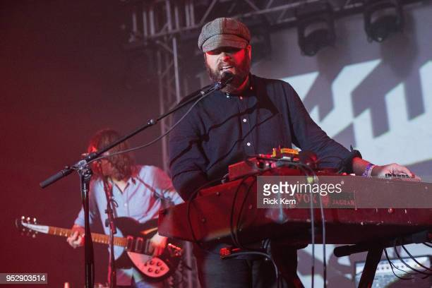Musician/vocalist Alex Mass of The Black Angels performs onstage during Levitation at Stubb's BarBQ on April 29 2018 in Austin Texas