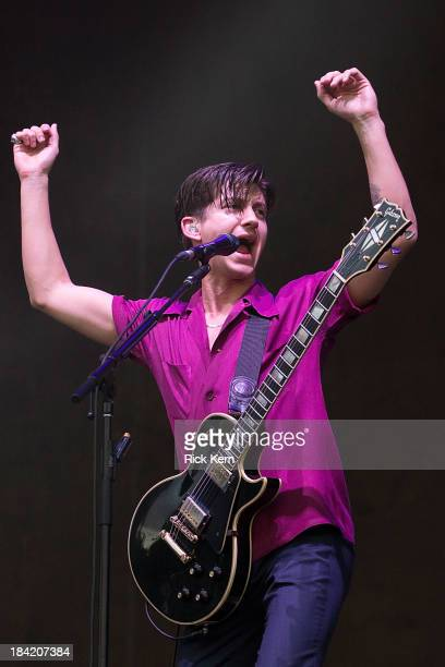 Musician/vocalist Alex Turner of Arctic Monkeys performs on stage during weekend two day one of the Austin City Limits Music Festival at Zilker Park...
