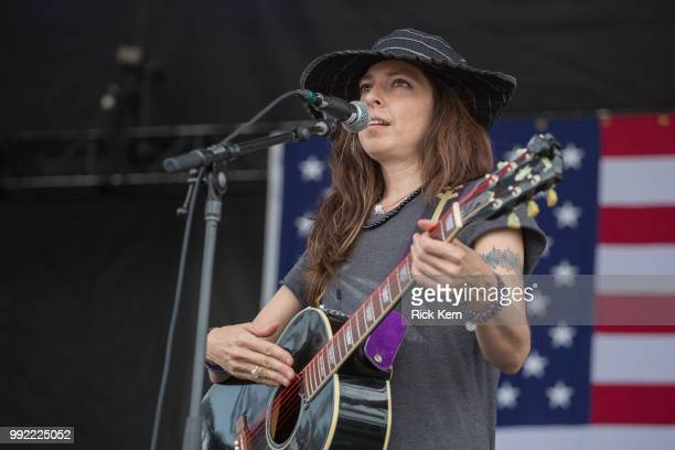 Musician/vocalist Amy Nelson of Folk Uke performs onstage during the 45th Annual Willie Nelson 4th of July Picnic at Austin360 Amphitheater on July 4...