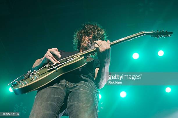 Musician/vocalist Chris Cornell of Soundgarden performs in concert at Austin Music Hall on May 25 2013 in Austin Texas