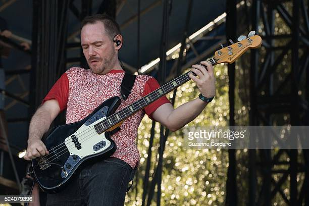 Musician/vocalist Chvrches performs on stage during weekend one day one of the Austin City Limits Music Festival at Zilker Park on October 3 2014 in...