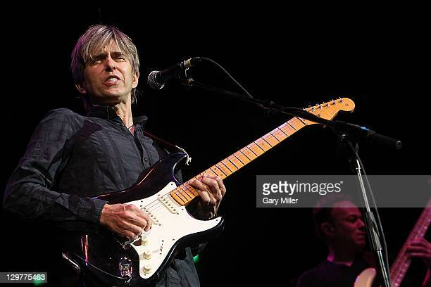 Musician/vocalist Eric Johnson performs during the Concert For Central Texas Fire Relief at The Frank Erwin Center on October 17 2011 in Austin Texas