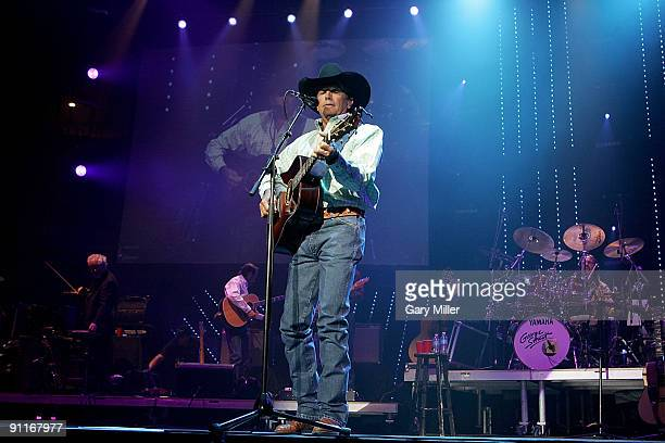 Musician/vocalist George Strait performs in concert at the Cedar Park Center on September 25 2009 in Cedar Park Texas