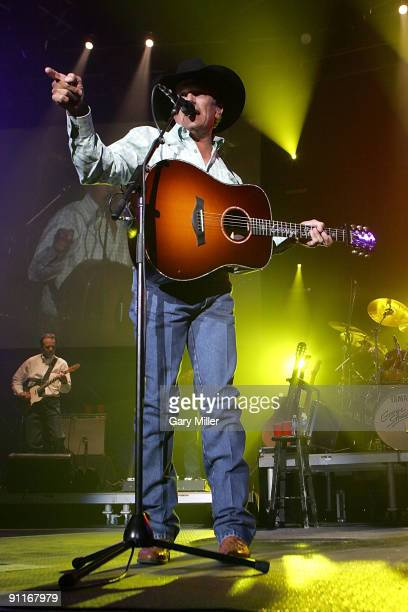 Musician/vocalist George Strait performs in concert at the Cedar Park Center on September 25 2009 in Cedar Park Texas