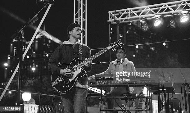 Musician/vocalist John Baldwin Gourley and Kyle O'Quin of Portugal The Man perform onstage during the Maverick Music Festival at Maverick Plaza on...