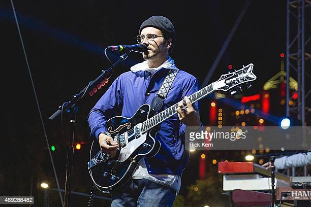 Musician/vocalist John Baldwin Gourley of Portugal The Man performs onstage during the Maverick Music Festival at Maverick Plaza on April 10 2015 in...