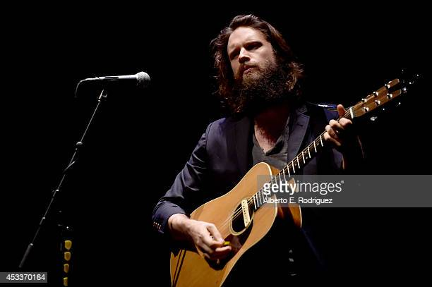 Musician/vocalist Joshua Tillman aka Father John Misty performs onstage after the screening of 'Life After Beth' with Father John Misty in concert...