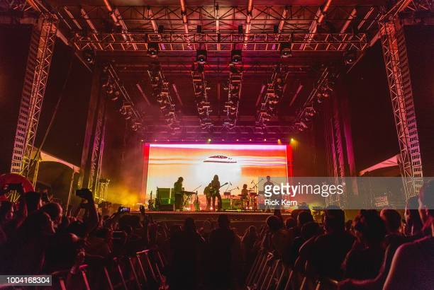 Musician/vocalist Kevin Parker of Tame Impala performs onstage during day two of Float Fest at Cool River Ranch on July 22 2018 in Martindale Texas