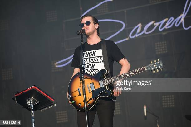 Musician/vocalist Mark Foster of Foster the People performs onstage during weekend two day one of Austin City Limits Music Festival at Zilker Park on...