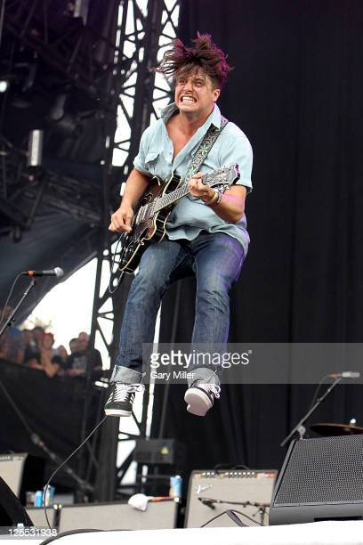 Musician/Vocalist Matthew Vasquez of Delta Spirit performs in concert during the Austin City Limits music Festival at Zilker Park on September 16...