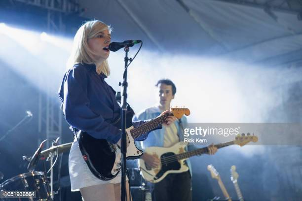 Musician/vocalist Molly Rankin and Brian Murphy of Alvvays perform in concert as part of an 'Official 2018 ACL Fest Late Night Show' at Stubb's BarBQ...