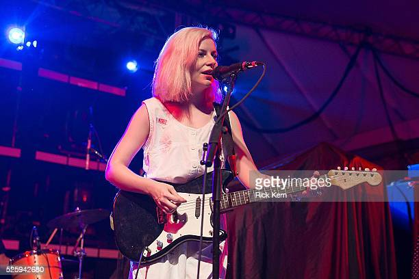 Musician/vocalist Molly Rankin of Alvvays performs in concert at Stubb's BarBQ on April 28 2016 in Austin Texas