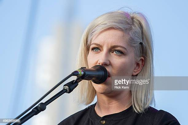 Musician/vocalist Molly Rankin of Alvvays performs onstage during Day 3 of Fun Fun Fun Fest at Auditorium Shores on November 8 2015 in Austin Texas
