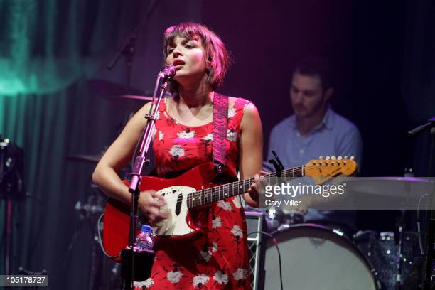 Musician/vocalist Norah Jones performs in concert during day 3 of the Austin City Limits Music Festival at Zilker Park on October 10, 2010 in Austin,...
