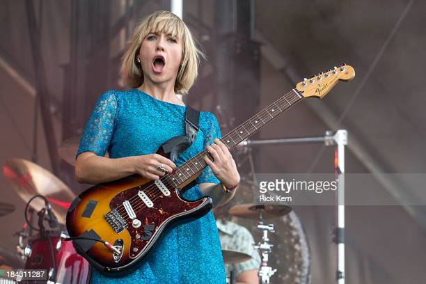 Musician/vocalist Ritzy Bryan of The Joy Formidable performs on stage during weekend two, day two of the Austin City Limits Music Festival at Zilker...