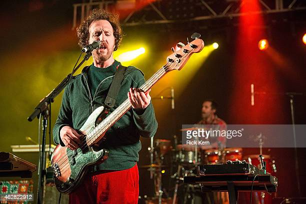 Musician/vocalist Ryan Miller of Guster performs in concert at Stubb's Amphitheater on February 5 2015 in Austin Texas