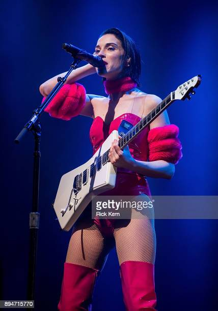 Musician/vocalist St. Vincent performs onstage during Day for Night festival on December 17, 2017 in Houston, Texas.