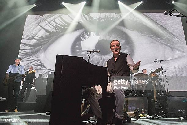 Musician/vocalist Stuart Murdoch of Belle and Sebastian performs in concert at ACL Live on August 28 2015 in Austin Texas