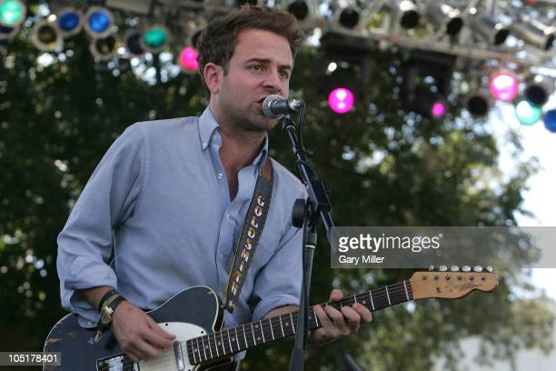 Musician/vocalist Taylor Goldsmith performs in concert with Dawes during day 3 of the Austin City Limits Music Festival at Zilker Park on October 10,...