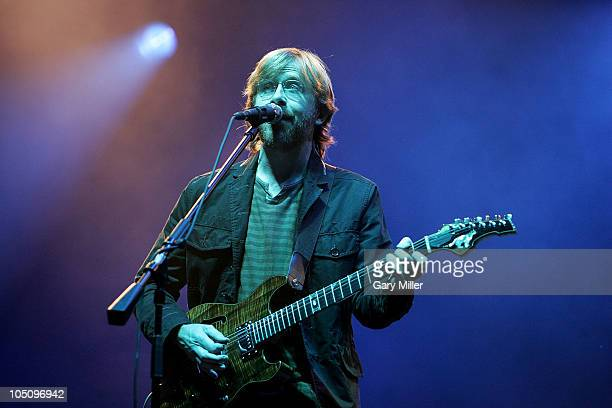 Musician/vocalist Trey Anastasio performs with Phish during day 1 of the Austin City Limits Music Festival at Zilker Park on October 8, 2010 in...