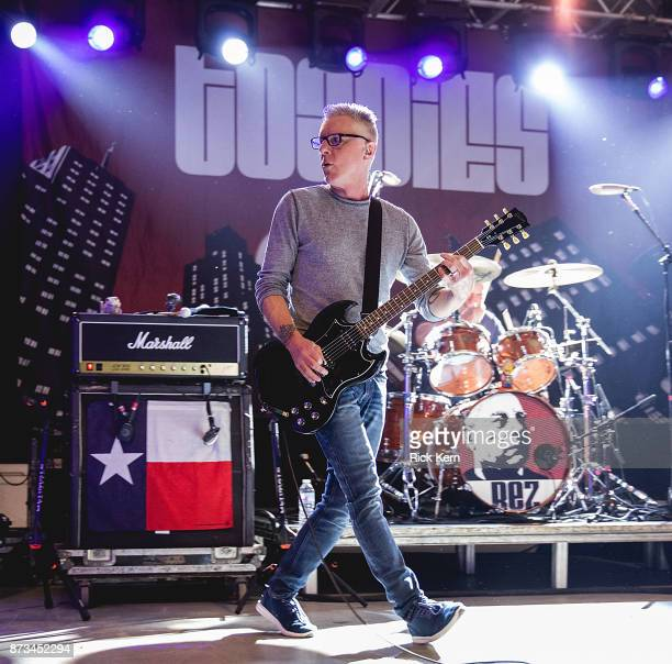 Musician/vocalist Vaden Todd Lewis and Mark Reznicek of the Toadies perform in concert at Stubb's BarBQ on November 10 2017 in Austin Texas