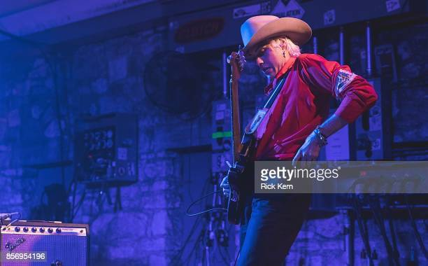 Musician/vocalist Wyatt Shears of The Garden performs in concert at Stubb's BarBQ on October 2 2017 in Austin Texas