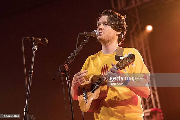 Musician/vocalist Zach Condon of Beirut performs in concert at Stubb's BarBQ on September 21 2016 in Austin Texas