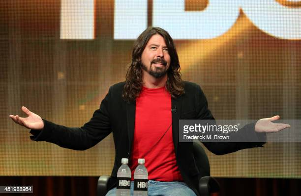 Musician/writer/director Dave Grohl speaks onstage at the 'Foo Fighters Sonic Highways' panel during the HBO portion of the 2014 Summer Television...