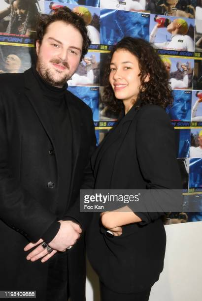 Musicien Vladimir Seguin and actress Camille Constantin attend «Deform Scan» Premiere Exhibition Preview at Galerie W Landeau on January 8 2020 in...