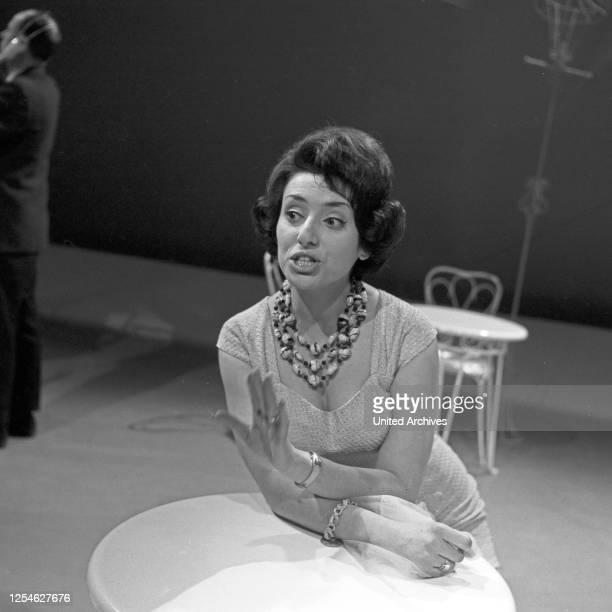 Musik aus Studio B, Musiksendung, Deutschland 1963, Gaststar: Angelina Monti.